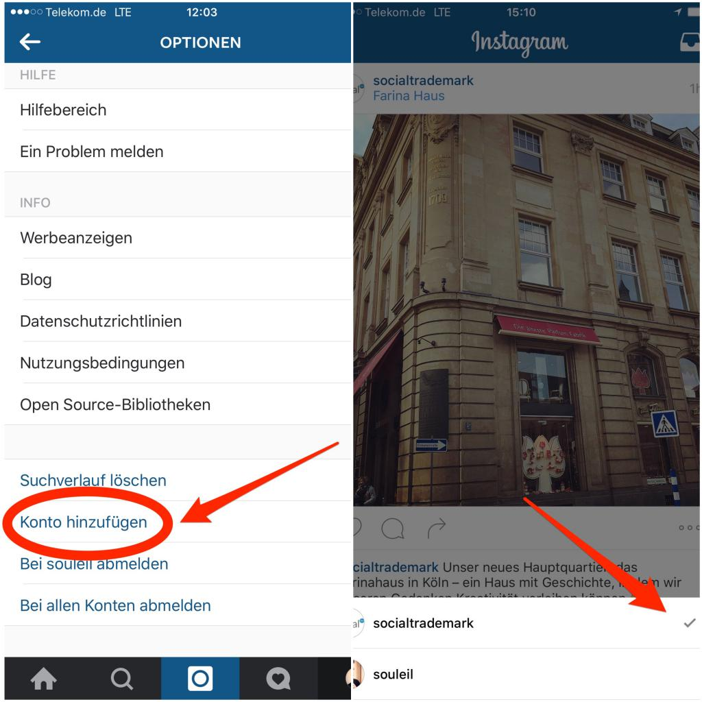 Instagram-Accounts-wechseln